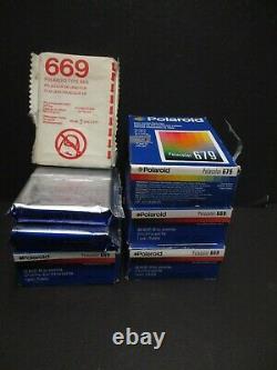 Polaroid 669 film 679 film 14 packs of film total 6 twins & 2 single SEALED