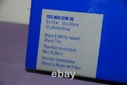 Polaroid 803 8X10 in Black/White Large Format Instant Film 15 Photos- New Sealed