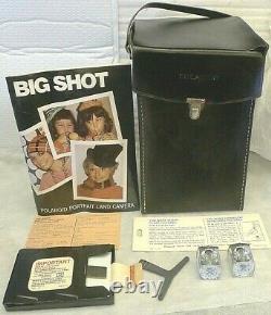 Polaroid Big Shot Portrait Film Camera +Case, Manual, RARE Rollers & Flashes