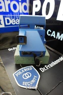 Polaroid Blue LM Program 600 RARE! SX-70 185 EMS Prototype Gold 690 SLR