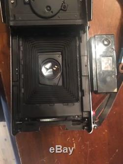 Polaroid Land Camera 195 w 114mm f/3.8 Tomioka Tominon. NICE