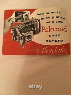 Polaroid Land Camera Model 110A, Prontor SVS Lens with lots of accessories