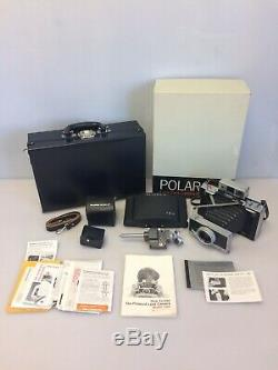 Polaroid Land Camera Model 180 with 114mm f4.5 Lens, Box Extras Case, Japan, Works