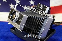 Polaroid Land Camera Model 195 FILM & FLASH TESTED Near Perfect Tominon 3.8 READ