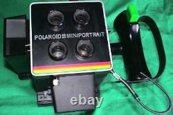 Polaroid Miniportrait 402 CAMERA FLASH PASSFOTO Sofortbild Kamera 100 PAC Film X