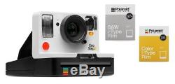 Polaroid OneStep 2 VF weiss Sofortbildkamera + 1 Film color & 1 Film b/w