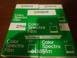 Polaroid Originals Color Spectra instant pack film. 04/19. FIVE PACK