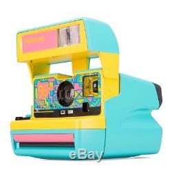 Polaroid Originals Custom 600 Camera 96 Cam Fresh Blue Refurbished By Polaroid