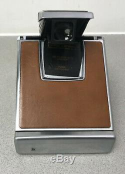 Polaroid Originals SX-70 Instant Camera Tan leather fully tested and working