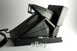 Polaroid SLR 680 AutoFocus Instant Camera Film&Flash TESTED with strap & case