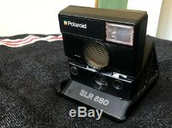 Polaroid SLR 680 Instant Camera with Leather Bag, Working, Near-Mint Condition