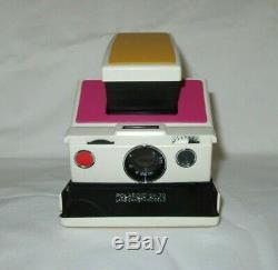 Polaroid SX70 Land Camera Model 2 White Ivory Case Flash Tested Working Retro