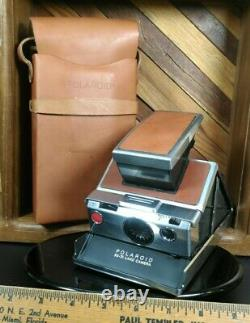 Polaroid SX70 Land Camera with Leather Case