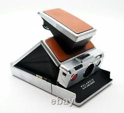 Polaroid SX70 Original Tan & Chrome Model. Film Tested UK Dealer