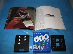 Polaroid SX-70 Alpha 1 Land Camera Lot Of 3 Cameras WithAnnual Report, Radio Plus+