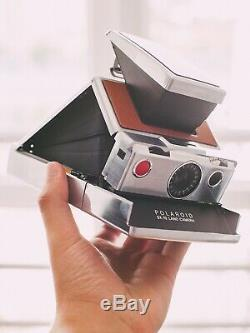 Polaroid SX-70 Instant Film Camera + Film Pack TESTED Retro / Vintage