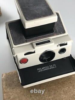 Polaroid SX-70 Instant Film Land Camera Ivory Model 2 +Box & Manual NOT TESTED