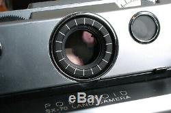 Polaroid SX-70 LAND CAMERA Original and Leather case serviced Works