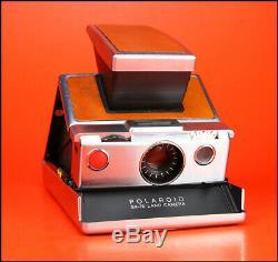 Polaroid SX-70 Land Camera Brown/Silver World's 1st Folding Instant Camera