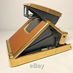 Polaroid SX-70 Land Camera Mildred Scheel 24K Gold Plated Kamera Instant Film