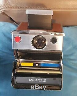 Polaroid SX-70 Land-Camera chrome Sofortbildkamera Land Kamera + 1 color Film