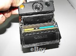 Polaroid SX-70 Model 2 Land Camera & Case & Extras Working In Vintage Condition