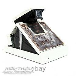 Polaroid SX-70 Model 2 SX70 in White c/w New Leather Ready to Fit, Film Tested