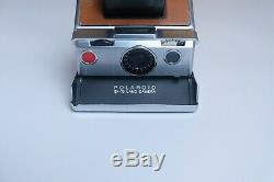 Polaroid SX-70 Original Fully Tested Tan Leather / Chrome