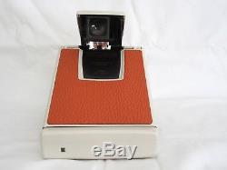 Polaroid SX-70 SLR Land Camera Model 2 White Ivory Orange Fully Working