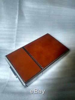 Polaroid SX-70 SLR. Land Camera. Silver. Brown Leather. Vintage item used