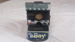 Polaroid SX 70 Sonar Autofokus inkl. Ledertasche + 4x Flashbar II