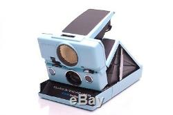 Polaroid SX-70 Sonar Misty Blue Custom, Refurbished Impossible/Originals