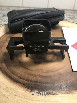 Polaroid SX-70 Tele/1.5 Lens #119A With Case And Booklet