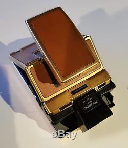 Polaroid SX-70 alpha 1 camera GOLD Mildred Scheel Lim. Edition + 1.5 Telephoto