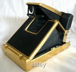 Polaroid SX-70 instant Land camera Very Rare Gold Version Sonar