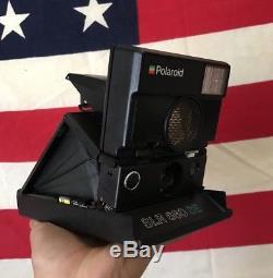 Polaroid Slr 680 SE 600 Speed Instant Film Camera Tested Works Great Black