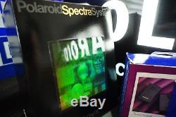Polaroid Spectra Onyx Kit Gift Box Rare Transparent SX70 185 Prototype Gold EMS