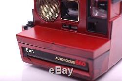 Polaroid Sun Autofocus 660 Metalic Red Amanda's Limited Edition