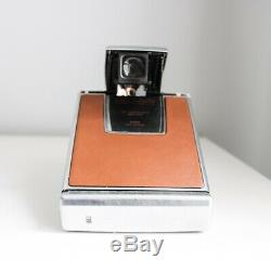 Polaroid Sx70 Land Camera Silver And Tan Brown Fully Working