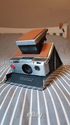 Polaroid Sx-70 (1974) Land Camera Silver And Tan Brown + Tested