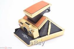 Polaroid Sx-70 Alpha-1 Gold Camera Original Makers Box & Instructions Tested