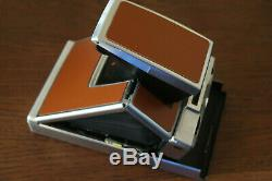 Polaroid Sx-70 Folding Land Camera In Chrome With Impossible Project Upgrades