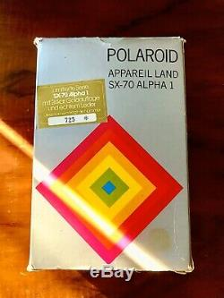 Polaroid Sx 70 Land Camera Alpha1 Gold Mildred Scheel no. 0725 Extremely Rare! TOP
