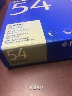 Polaroid Type 54 Instant 4x5 Sheet Film B&W ISO 100 20shs 2008