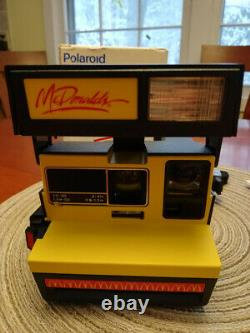 Polaroid mcdonalds 600 series New Very Rare Complete with docs and orig. Box
