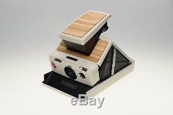 Polaroid sx 70 weiß, echtes Holz, real wood