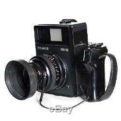 RARE POLAROID 600SE Camera with MAMIYA 127mm Lens, Grip, and Lens Hood