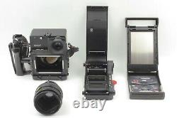 RARE SET Polaroid 600SE Instant Camera with M Adapter 6x9 Film back from Japan