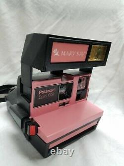 RARE Vintage Mary Kay Pink Accent Polaroid Spirit 600 Camera TESTED