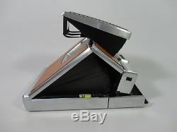 RARE Vintage Polaroid SX-70 Land Camera Case Manual Instant Retro Brown Silver